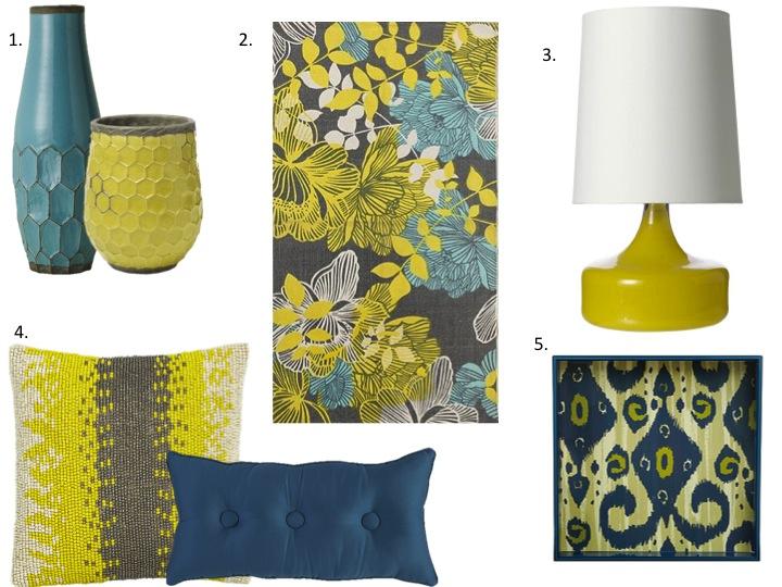 Home Decor: Yellow U0026 Turquoise