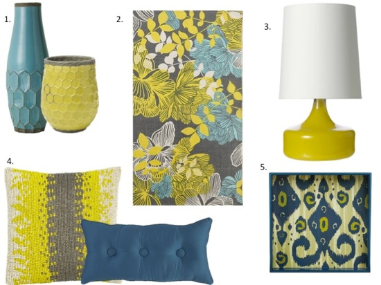 Home decor: Yellow & Turquoise