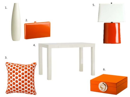 Home Decor Obsession Orange & White