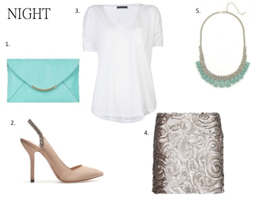 Style guide white tee-shirt night look