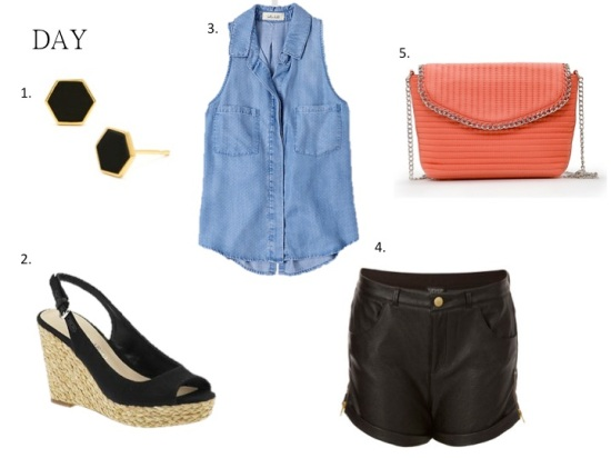 Night & Day Style: Leather Shorts