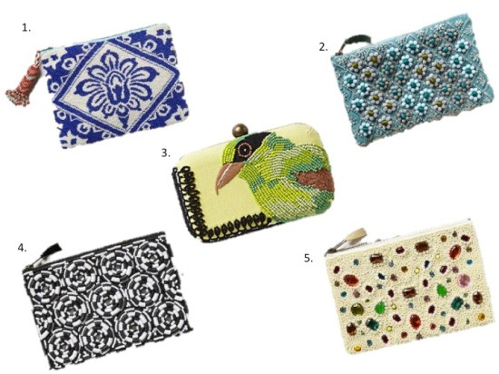 Anthropologie clutches