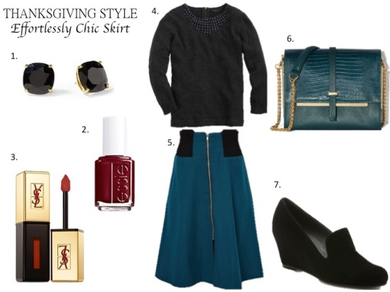 Thanksgiving Style - Effortlessly Chic Skirt