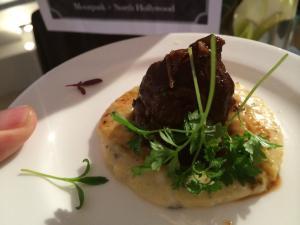 Braised Pork Cheek with Creamy Polenta by Fabio Viviani - Cafe Firenze