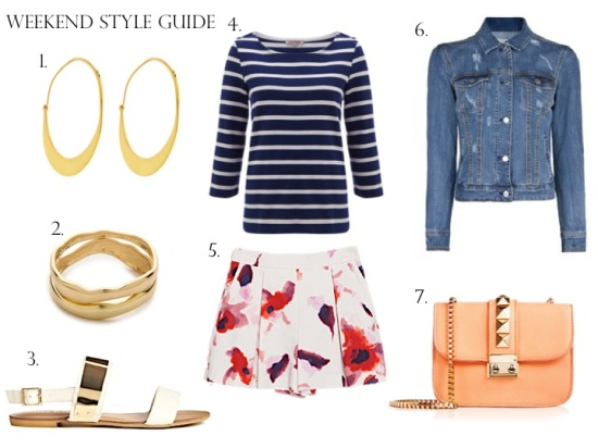 Weekend Style: Florals & Stripes