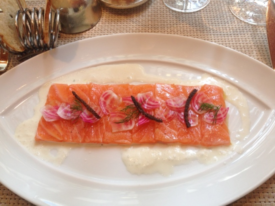 Salmon with a Horseradish Sauce