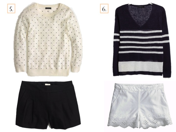 Effortless Summer Style: Sweater & Shorts | www.eatshoplivenyc.com