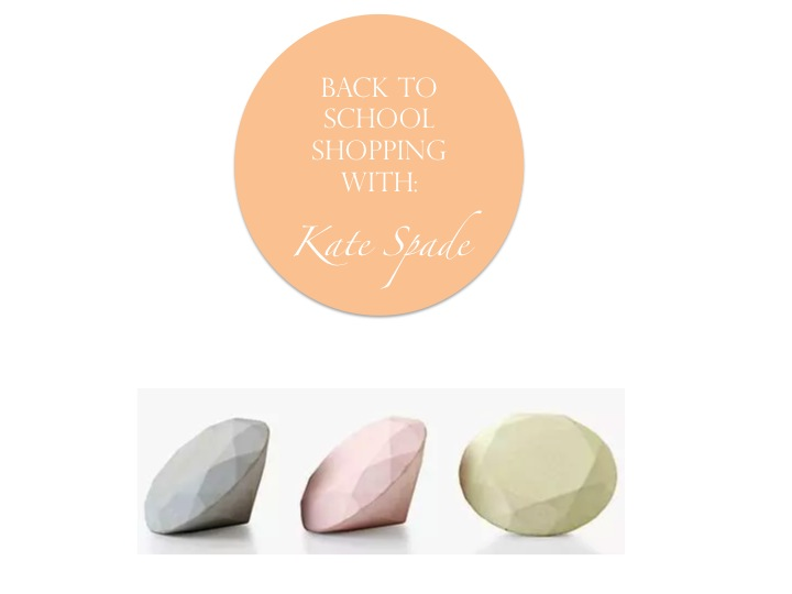 Back to School Shopping with Kate Spade