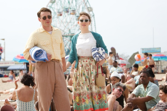 "Emory Cohen as ""Tony"" and Saoirse Ronan as ""Eilis"" in BROOKLYN. Photo by Kerry Brown. © 2015 Twentieth Century Fox Film Corporation All Rights Reserved"
